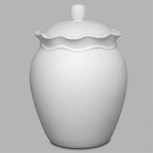 Ruffle Ware Biscotti Jar