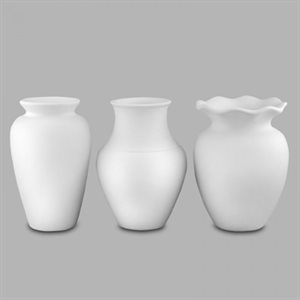 Great Shapes Vases Asst / 3