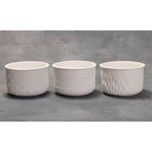Textured Planters - 3 Designs