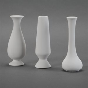 3 Ass`T Bud Vases