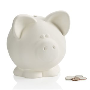 Large Piggy Bank w / Stopper